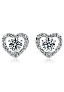 Vivere Rosse Pure Love Stud Earrings (Silver) JE0054