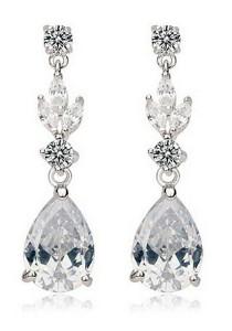 Vivere Rosse Modern Lady Dangle Earrings (Silver) JE0061