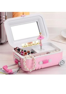 Jewelry Musical Box Suitcase Design With Mirror