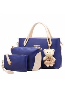 JMI 4-in-1 Luxurious Elegance HandBag 78# (Blue)
