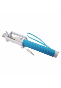Candy Color Wired Extentable Selfie Stick Monopod (Sky Blue)