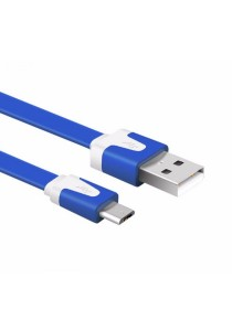 Micro USB Noodle Data Cable 1 Meter (Dark Blue)