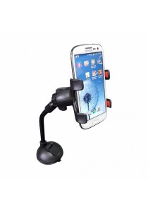 Universal Smartphone Car Mount Long Arm B (Black)