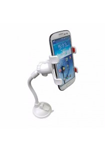 Universal Smartphone Car Mount Long Arm B (White)
