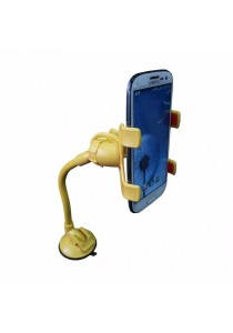Universal Smartphone Car Mount Long Arm B (Yellow)