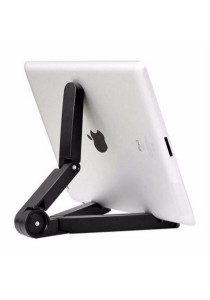 "JMI Portable Fold-Up Stand for Smartphone/iPad/Tab 4""-10"" (Black)"