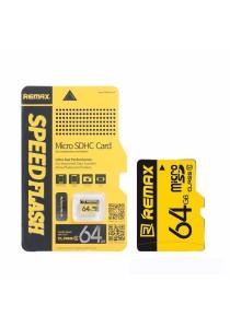 Remax Class 10 Micro SD SDHC TF Memory Card - 64GB