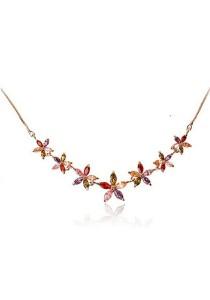 Vivere Rosse Summer Flowers Cubic Zirconia Necklace JN0002