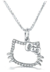 Vivere Rosse Hello Kitty Necklace (Silver) JN0047