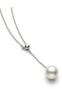 Vivere Rosse Freshwater Pearl Lariat Necklace (Silver) JN0051-S