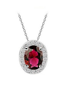 Vivere Rosse Oval Necklace (Red) JN0058-R