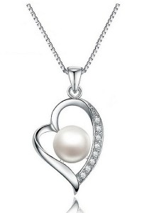 Vivere Rosse Pearl Beauty Necklace (Silver) JN0065