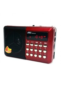 JOC Rechargeable USB and microSD Slot Mini Digital MP3 Player FM Radio
