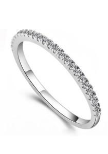 Vivere Rosse Eternity Half Band Ring (925 Sterling Silver) JR0002-SS