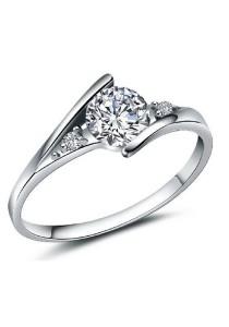 Vivere Rosse Destinee 18K White Gold Plated Ring (Silver) JR0005