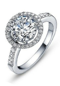 Vivere Rosse Sona Solitaire 2ct. Simulated Diamond Ring JR0007