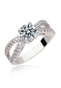 Vivere Rosse Crown Simulated Diamond Ring JR0009