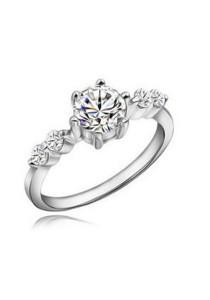Vivere Rosse Glam 925 Sterling Silver Simulated Diamond Ring JR0010
