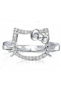 Vivere Rosse Hello Kitty Adjustable Ring (Silver) JR0015