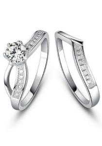 Vivere Rosse Darling Stack Ring Set (Silver) JR0019