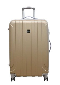 "Jean Francois JTH5927 20"" Hard Case Luggage 8 Wheels Spinner (Champagne)"