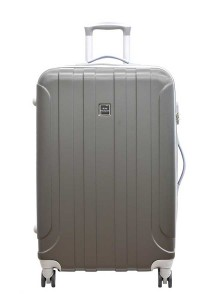 "Jean Francois JTH5927 24"" Hard Case Luggage 8 Wheels Spinner (Dark Grey)"