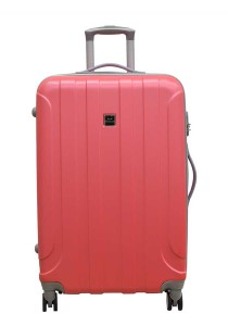 "Jean Francois JTH5927 24"" Hard Case Luggage 8 Wheels Spinner (Pink)"