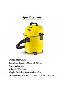 KARCHER Vacuum Cleaner Wet and Dry Multi Purpose 1000w