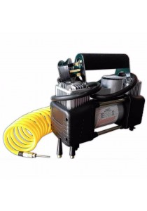 Portable Electric Air Double Cylinder Compressor with Meter