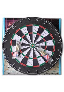"Dual Side Tournament Flocked Dart Board 18"" x 1.5"" More Thicker (Free 6 Darts)"