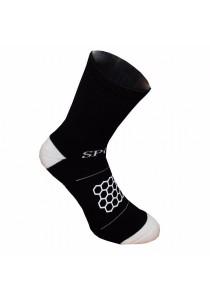 Double Anti-slip with Honeycomb Pattern Nylon Football Socks (Black)