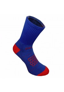 Double Anti-slip with Honeycomb Pattern Nylon Football Socks (Blue)