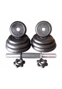 Gym Quality Rubber Dumbbell 15 KG Adjustable