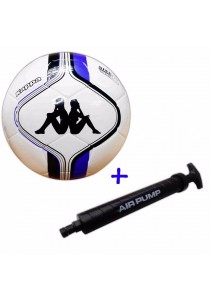 Kappa Football Size 5 KG3NL017 with Double Action Hand Pump (Blue)