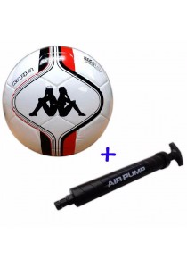 Kappa Football Size 5 KG3NL017 with Double Action Hand Pump (Red)