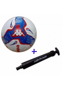 Kappa Football Size 5 KG3NL019 with Double Action Hand Pump (Red)