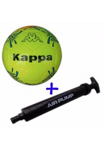 Kappa Futsal Ball KG3NL023 with Double Action Hand Pump (Fluorescent Yellow)