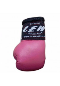 LEW Mini Boxing Glove Keychains (Pink)