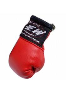 LEW Mini Boxing Glove Keychains (Red)