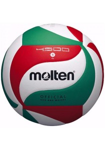 Molten V5M4500 Official Volleyball PU Leather with a Needle and Carrying Net
