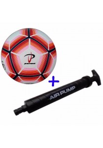 Parma Laminated Football Size 4 73 with Double Action Hand Pump (Red)