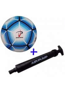 Parma Laminated Football Size 5 73 with Double Action Hand Pump (Blue)