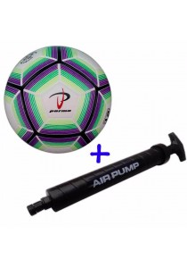 Parma Laminated Football Size 5 73 with Double Action Hand Pump (Green)
