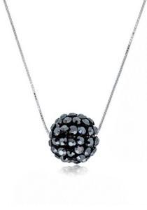 Kelvin Gems Glam Big Diva Ball Pendant Necklace with SWAROVSKI Elements