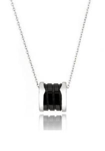 Kelvin Gems Black Fleur Pendant Necklace