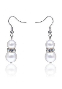 Kelvin Gems Classic Glam Eugenia Fresh Water Pearl Hook Earrings with SWAROVSKI Elements