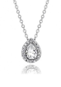 Kelvin Gems Glam Angelic Pendant Necklace with SWAROVSKI Elements
