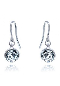Kelvin Gems Glam Veda Light Hook Earrings with SWAROVSKI Elements