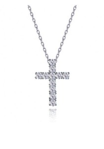 Kelvin Gems Holy Cross Pendant Necklace with SWAROVSKI Zirconia