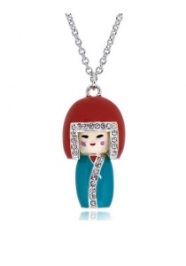 Kelvin Gems Japan Kimi Doll SWAROVSKI Elements Pendant Necklace